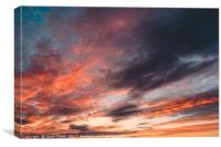 Colourful Sunset Clouds - Anglesey, North Wales, Canvas Print