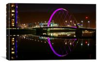 Squinty Bridge (Clyde Arc), Canvas Print