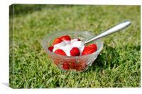 Strawberries and cream, Canvas Print
