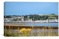 Postcard from Appledore, Devon, UK., Canvas Print