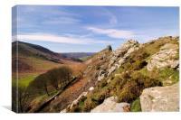 Valley of the Rocks Exmoor, Canvas Print