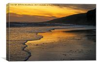 Sunset at Rest Bay, Canvas Print
