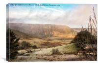 Welsh Misty Mountain, Canvas Print