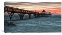 Clevedon Pier Sunset, Canvas Print