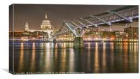 Millennium Bridge / St Paul's Cathedral, Canvas Print