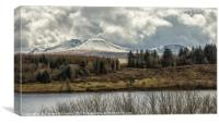 The Black Mountain, Canvas Print