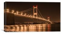 Severn Bridge Night Lights, Canvas Print