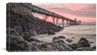 Sunset Clevedon Pier, Canvas Print