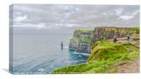 Walking the Cliffs of Moher, Canvas Print