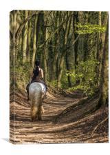 On Horseback, Canvas Print