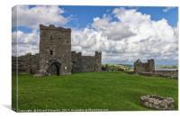 Llansteffan Castle, Canvas Print