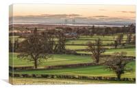 A Distanced Severn Bridge, Canvas Print