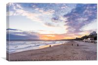Glorious sunset over Bournemouth, Canvas Print