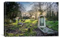 Evening light at Eling cemetery in Hampshire, Canvas Print