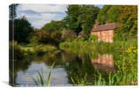 Winchester Itchen River, Hampshire, England, Canvas Print