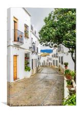 Cobbled Street village of Zahara de la Sierra, Canvas Print