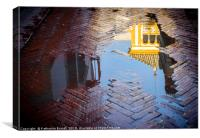 Reflection of Rosina's balcony in Seville, Canvas Print