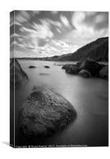 Filey rock faces, Canvas Print