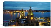 Royal Liver Building- Liverpools iconic building , Canvas Print