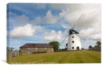 Llynon mill and farm, Llandeusant, Anglesey, Wales, Canvas Print