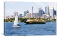 The Manly ferry , Canvas Print