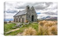 The Church of the Good Shepherd, Lake Tekapo, South Island, New Zealand, Canvas Print