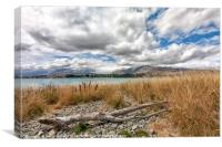 Lake Tekapo and the Southern Alps, South Island, New Zealand, Canvas Print