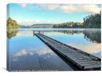 Lake Mapourika, Canvas Print