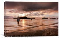 Sunrise at Samsanram Beach, Canvas Print
