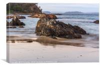 Rocks in the sea, Canvas Print