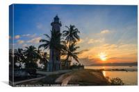 Sunrise Galle Fort lighthouse, Sri Lanka, Canvas Print