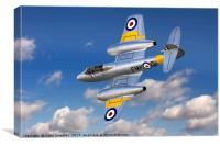 Gloster Meteor T.7 WA591 G-BWMF, Canvas Print