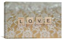Love in Letters, Canvas Print