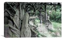 Old Grave Yard, Canvas Print