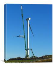 Wind Turbine Blade Installation, Canvas Print