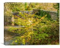 Respryn Bridge over the Fowey River, Canvas Print