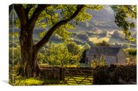 Llanthony Valley, Canvas Print
