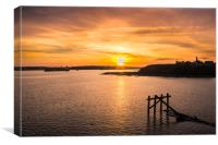 Sunset over Tyneside, Canvas Print