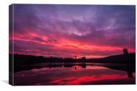 Sunrise over Kynren, Canvas Print