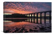St Germans viaduct at sunrise, Canvas Print