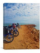 Motorbike Bay, Canvas Print
