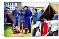 WW2 PILOTS RAF DUXBRIDGE, Canvas Print