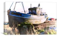 Fishing Boat Hastings, Canvas Print