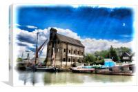 Oyster Bay House Faversham Creek, Canvas Print