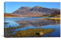 Arkle from Loch Stack, Canvas Print