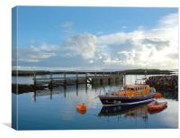 Lifeboat at Leverburgh, Canvas Print