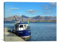 Ferry to Isle of Lismore, Canvas Print