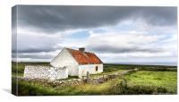 Old Irish Farmhouse, Canvas Print