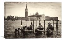 Venice in sepia tone, Canvas Print