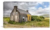 Old Abandoned farmhouse Ireland, Canvas Print